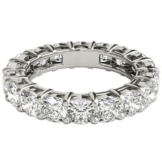 Seraphina Platinum 5ct TDW Cushion Cut Diamond Eternity Ring