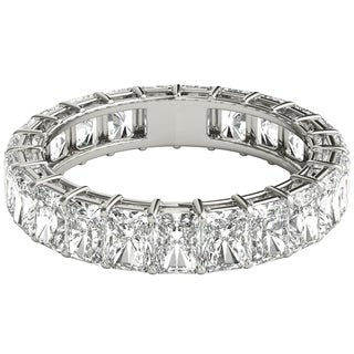 Seraphina Platinum 5ct TDW Radiant Cut Diamond Eternity Ring