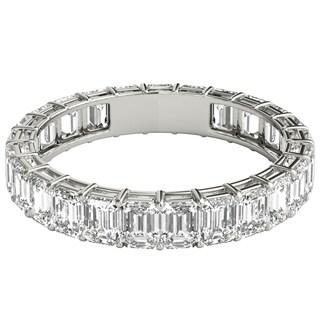 Seraphina Platinum 3ct TDW Emerald Cut Diamond Eternity Ring