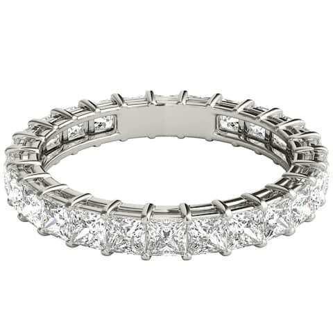 Seraphina Platinum 2ct TDW Princess Cut Diamond Eternity Ring