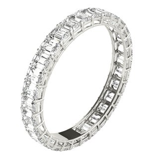 Seraphina Platinum 2ct TDW Emerald Cut Diamond Eternity Ring