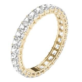 Seraphina 18k Yellow Gold 2ct TDW Radiant Cut Diamond Eternity Ring