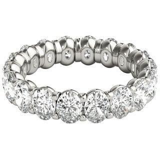 Seraphina Platinum 4ct TDW Oval Cut Diamond Eternity Ring