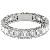 Seraphina Platinum 4ct TDW Emerald Cut Diamond Eternity Ring