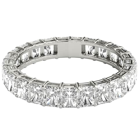 Seraphina Platinum 3ct TDW Radiant Cut Diamond Eternity Ring