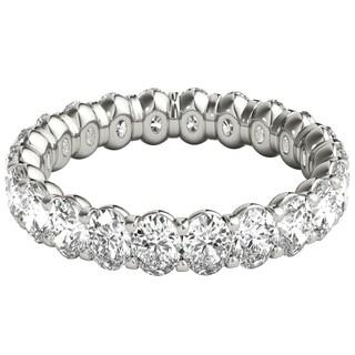 Seraphina Platinum 3ct TDW Oval Cut Diamond Eternity Ring