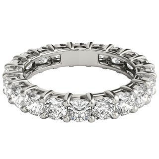 Seraphina Platinum 4ct TDW Cushion Cut Diamond Eternity Ring
