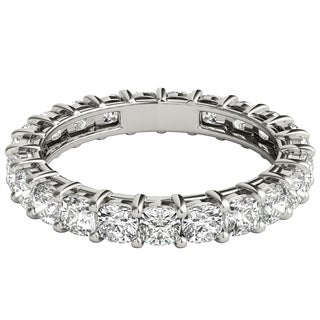 Seraphina Platinum 2 1/2ct TDW Cushion Cut Diamond Eternity Ring