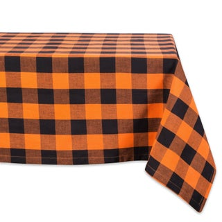 Design Imports Red Buffalo Check Kitchen Tablecloth (84 Inch Wide x 60 Inch Long)