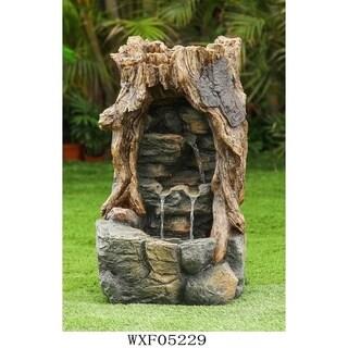 Broken Wood Log Fountain