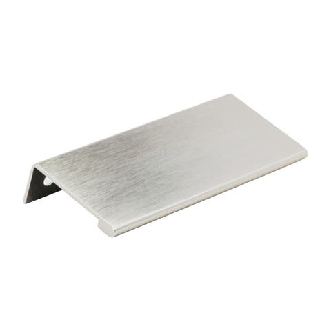 "Modern Edge Pull 3-5/32"" Centers Stainless Steel"