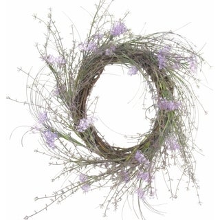 Vine and Purple Flower Wreath
