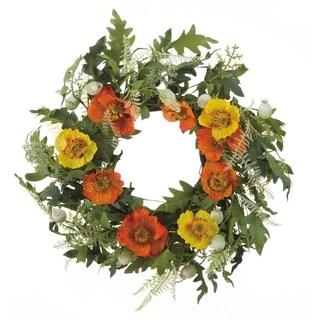Faux Poppy Wreath