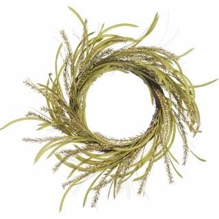 Faux Wild Greens Wreath