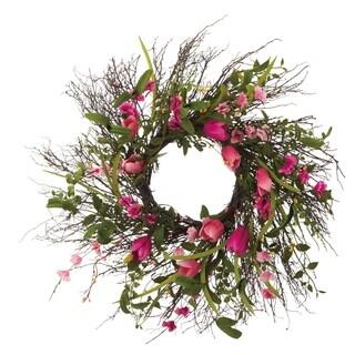 Faux Tulip Wreath