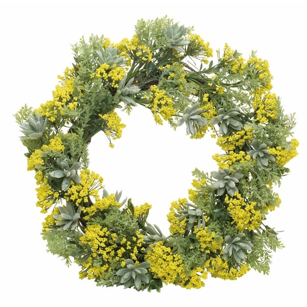 Endless Summer Wreath-Yellow and Geen