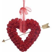 "20"" Rose Heart Wreath"