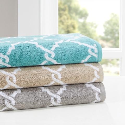 Madison Park Essential Diablo Cotton Jacquard 6 Piece Towel Set