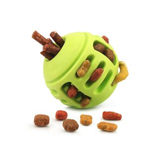 Fluffy Paws Durable Non Toxic Rubber Treat Toy Round Chewing FeedBall Pet Toy for Dog (Dental Treat and Bite Resistant)