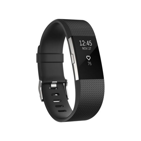 Zodaca Adjustable Replacement TPU Sport Band Strap Wristband with Metal Buckle Clasp for Fitbit Charge 2 (8 Colors Available)