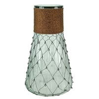 Peculiar Clear Glass Vase With Chicken Wire, Brown