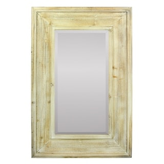 Rustic Mirror In Wooden Frame, Brown - N/A