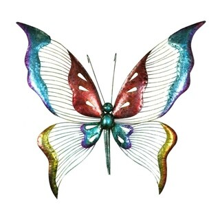 Striking Metal Butterfly Wall Decor, Multicolor