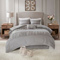 Madison Park Viona Grey 5 Piece Comforter Set