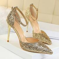 cnmodle Women's Pointy Toe High Heel Shoes for Wedding Party