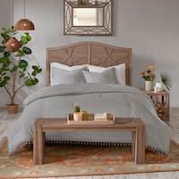 Madison Park Daisi Grey 3 Piece Cotton Comforter Set