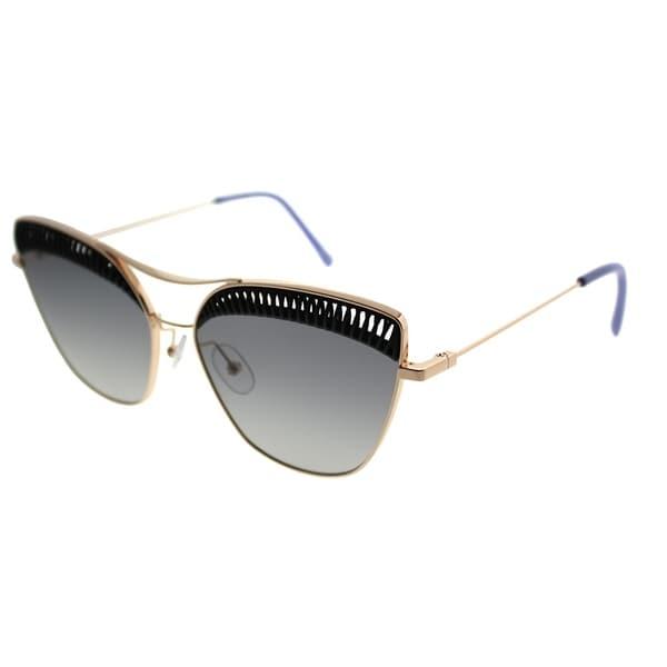 Shop OXYDO Cat-Eye O.NO 1.5 807 9O Women Black Gold Frame Dark Grey ... 7fc8053dc6