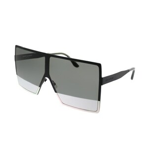 Saint Laurent Square SL 182 Betty 004 Unisex Black Frame Silver Mirror Lens Sunglasses