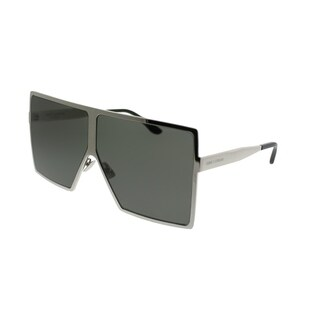 Saint Laurent Square SL 182 Betty 006 Unisex Silver Frame Grey Lens Sunglasses