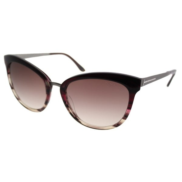 b7a63f3263 Tom Ford Cat-Eye TF 461 Emma 71F Women Bordeaux Frame Brown Gradient Lens  Sunglasses