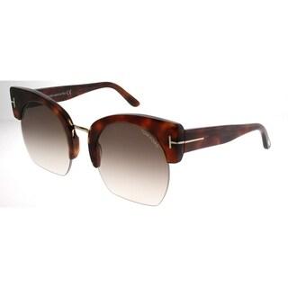 Link to Tom Ford Cat-Eye TF 552 Savannah 53F Women Blonde Havana Frame Brown Gradient Lens Sunglasses Similar Items in Women's Sunglasses