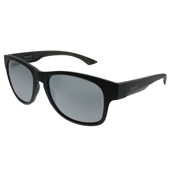 03662db4c2 Smith Rectangle Wayward DL5 XN Unisex Matte Black Frame Platinum ChromaPop  Plus Polarized Lens Sunglasses
