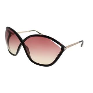 4b96d1c2505c Tom Ford Oval TF 529 Bella 52Z Women Dark Havana Frame Rose Gradient Lens  Sunglasses