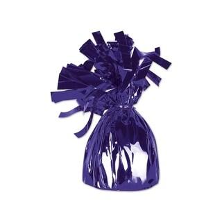Beistle Metallic Wrapped Balloon Weight 6 Oz Purple - Pack of 12