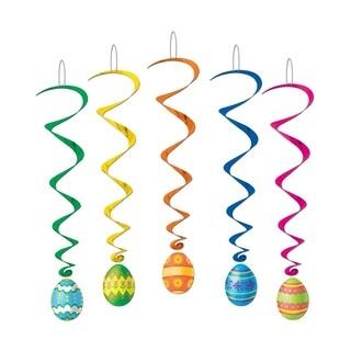 """Beistle Easter Egg Whirls 3' 4"""" - 6 Pack (5/Pkg)"""