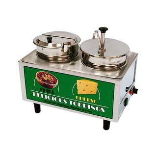 Benchmark Chili and Cheese Warmer 1 Pump, 1 Ladle and 1 Lid