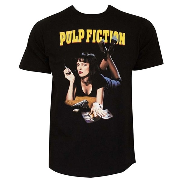 Pulp Fiction Mia Mens Black T-Shirt