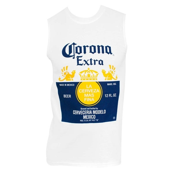 Corona Extra Muscle Style Mens White Tank Top