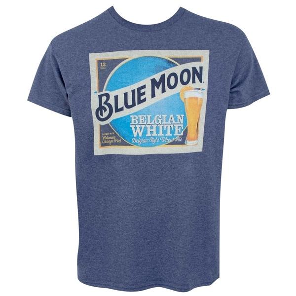 Blue Moon Belgian White Beer Label Mens Blue T-Shirt