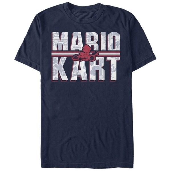 Nintendo Mario Kart Text Blue T-Shirt