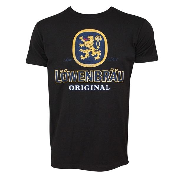 Lowenbrau Logo Black Tee Shirt