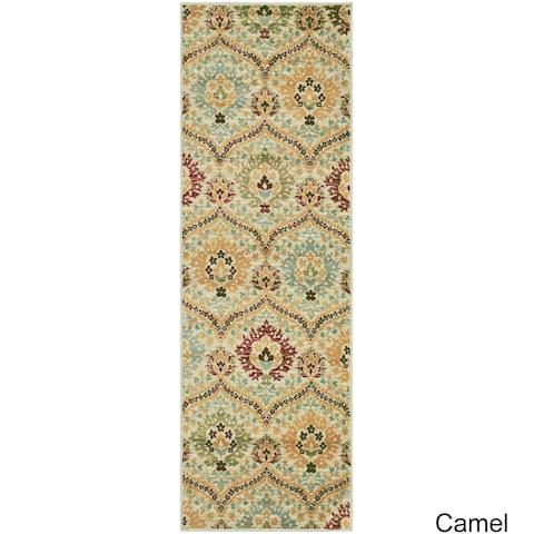 """Superior Designer Augusta Camel Area Rug - 2'6"""" x 8'"""