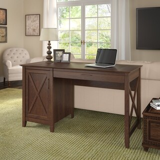 The Gray Barn Byrnes Computer Desk with Storage in Bing Cherry