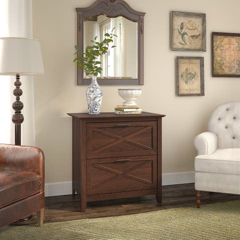 The Gray Barn Byrnes 2-Drawer Lateral File Cabinet in Bing Cherry