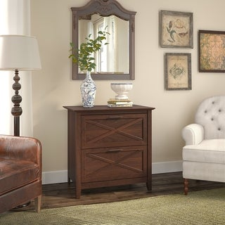 Gracewood Hollow Basha 2-Drawer Lateral File Cabinet in Bing Cherry