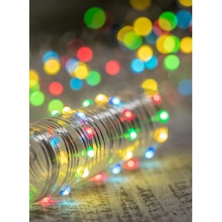 Multicolored Decorative LED Light Strand with Timer